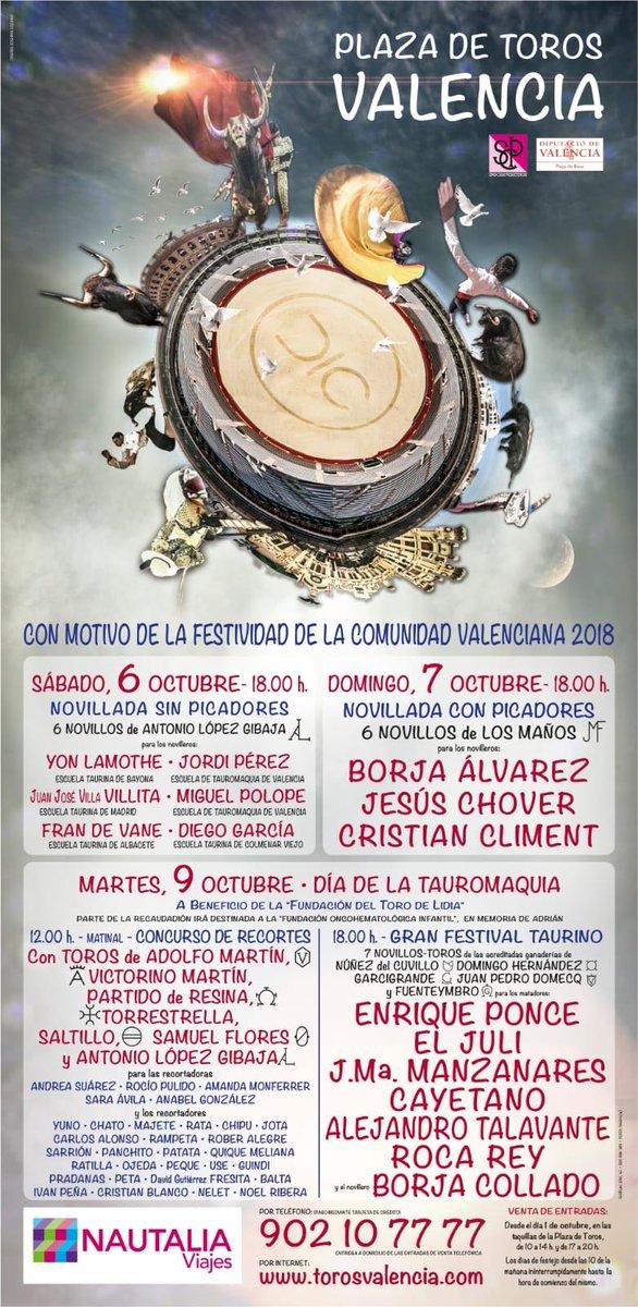 9 octubre 2018 plaza toros valencia